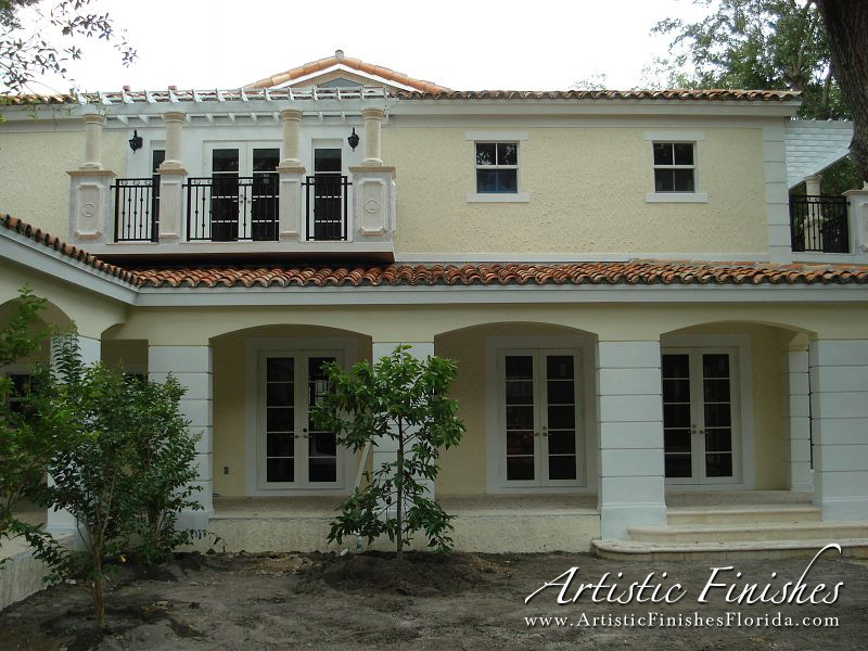 Exterior painting artistic finishes - Painting houses exterior set ...
