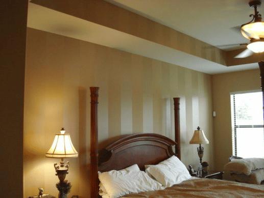 Interior Painting - Bedroom Walls - Stripes