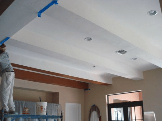 Interior Painting - Faux Wood Beams Before