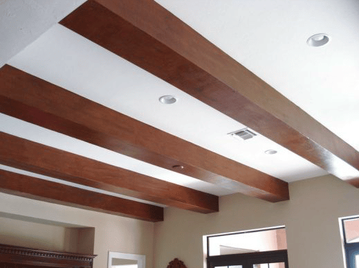Faux Wood Beams After