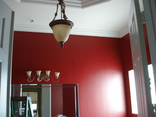 Dining Room Wall Painted