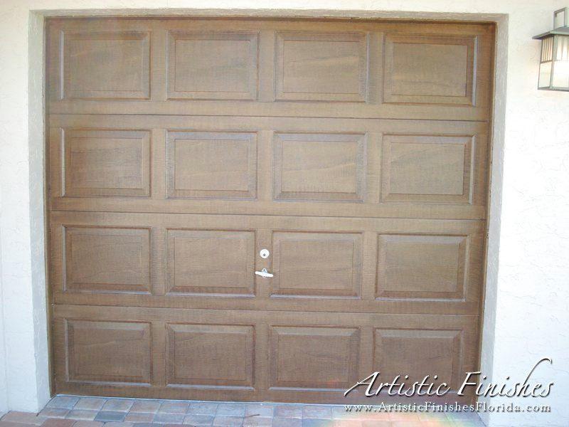 Exterior Faux Wood Garage Door 1