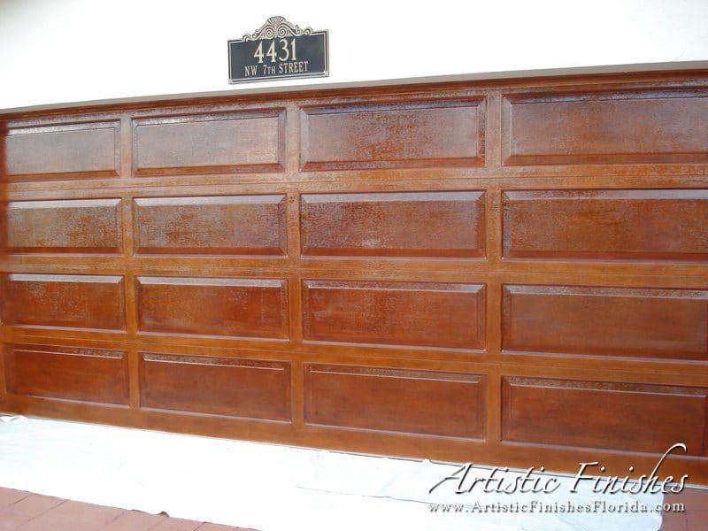Exterior Faux Wood Garage Door 2