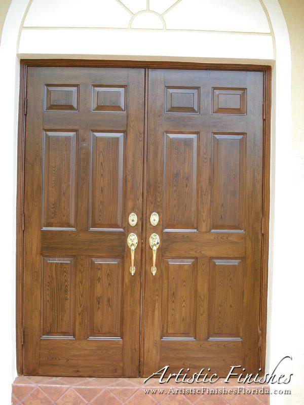 Exterior - Wood Grain Doors