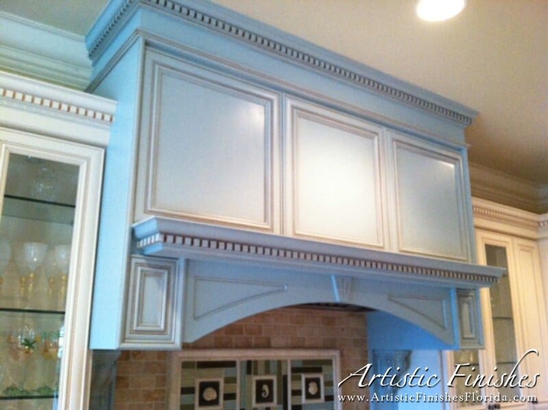 Faux Finishing Furniture. Kitchen Hood Lacquered U0026 Glazed