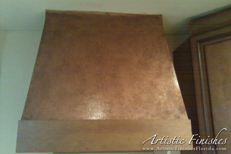 Kitchen Hood Bronze Faux Finish