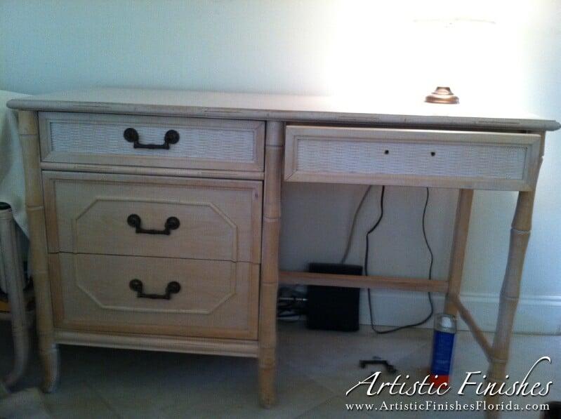 Desk Before Faux Finish