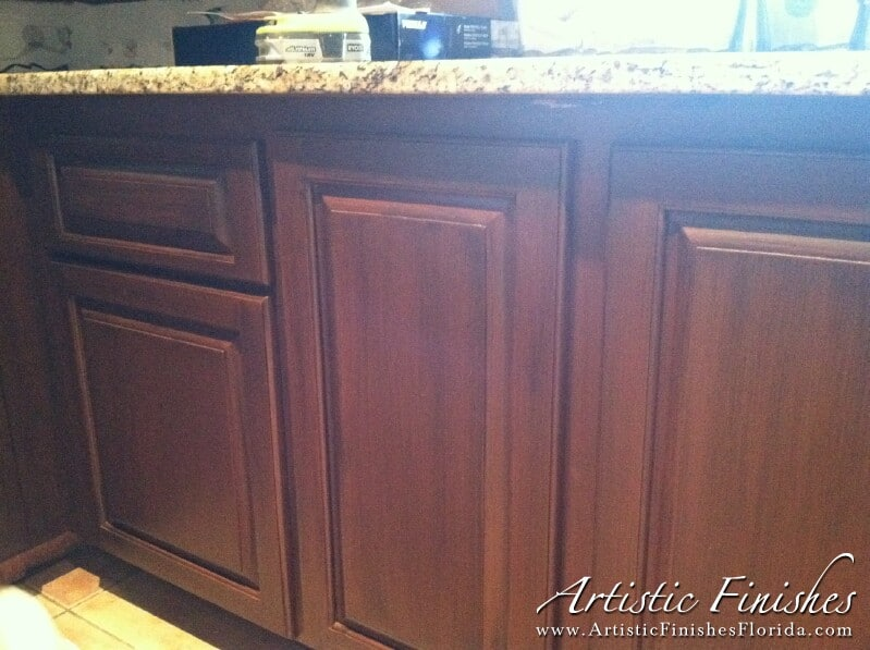 Kitchen Cabinets Faux Finished