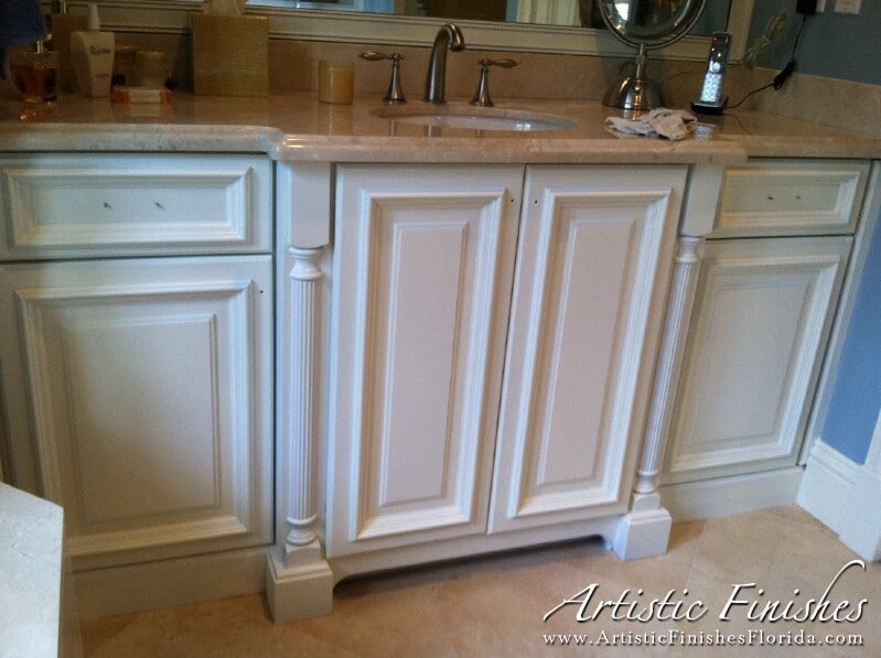 Bathroom Cabinets Re-Lacquered