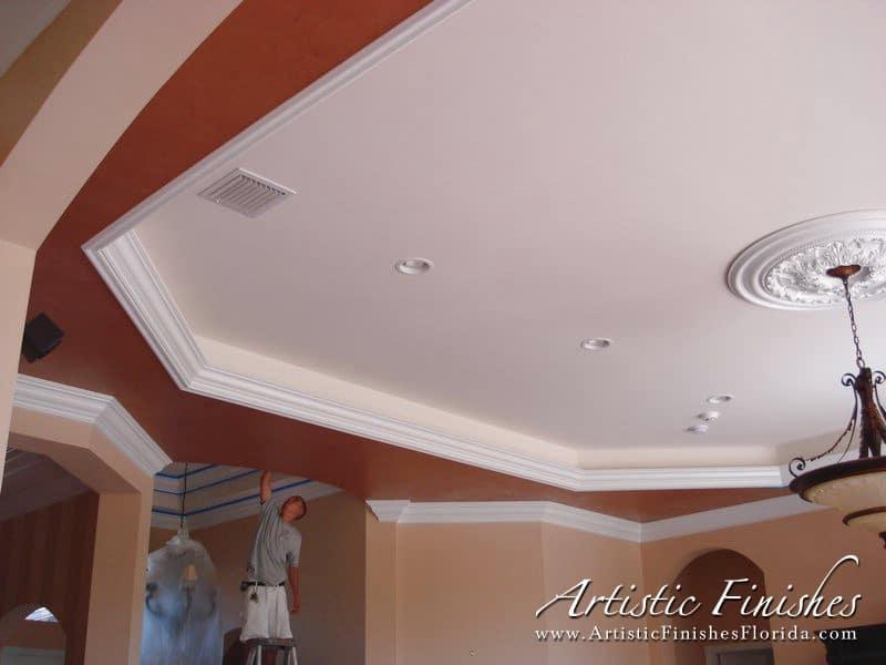 Venetian plaster artistic finishes for Interior stucco ceiling repair