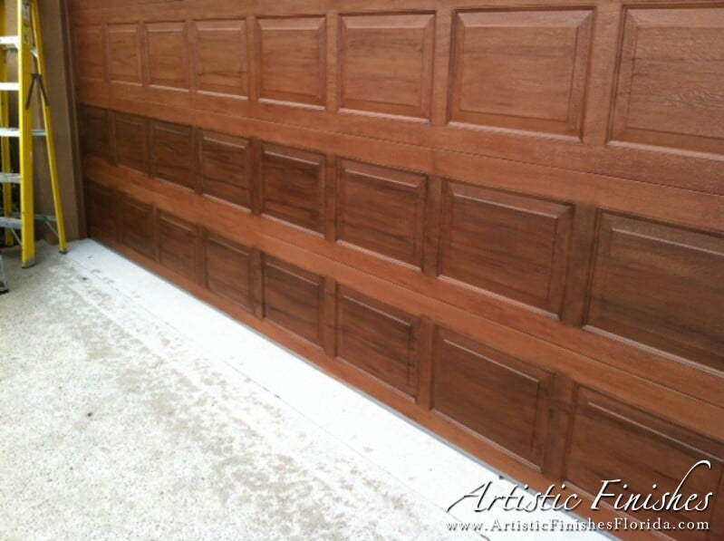 Faux Finish Garage Doors In West Palm Beach Artistic Finishes