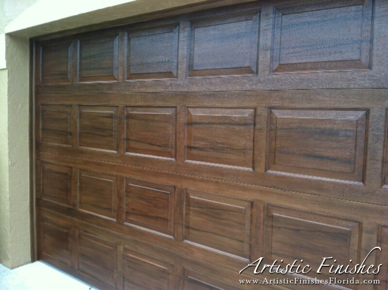 Faux finish garage doors in west palm beach artistic for How to paint faux wood garage doors