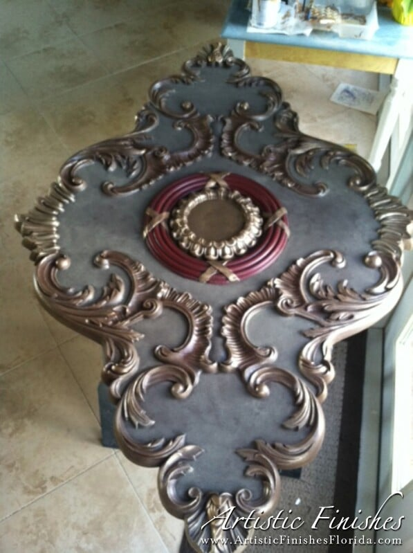 6 ft Faux Finish Medallion