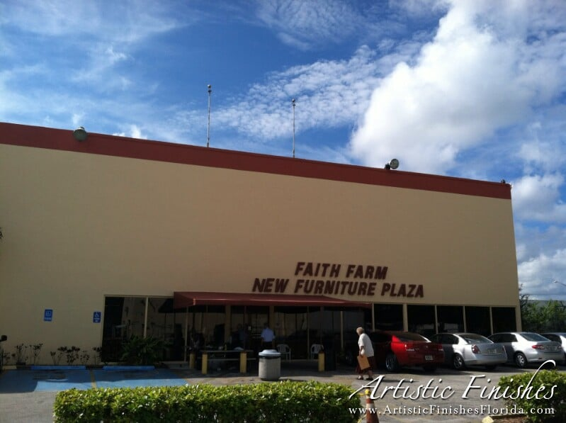 Painting The Faith Farm In Ft Lauderdale Artistic Finishes