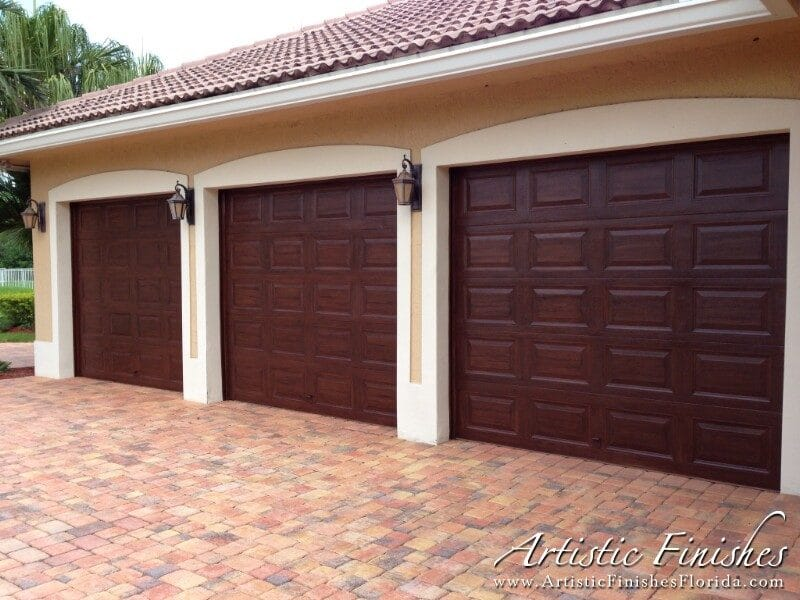 Faux Wood Garage Doors (After)