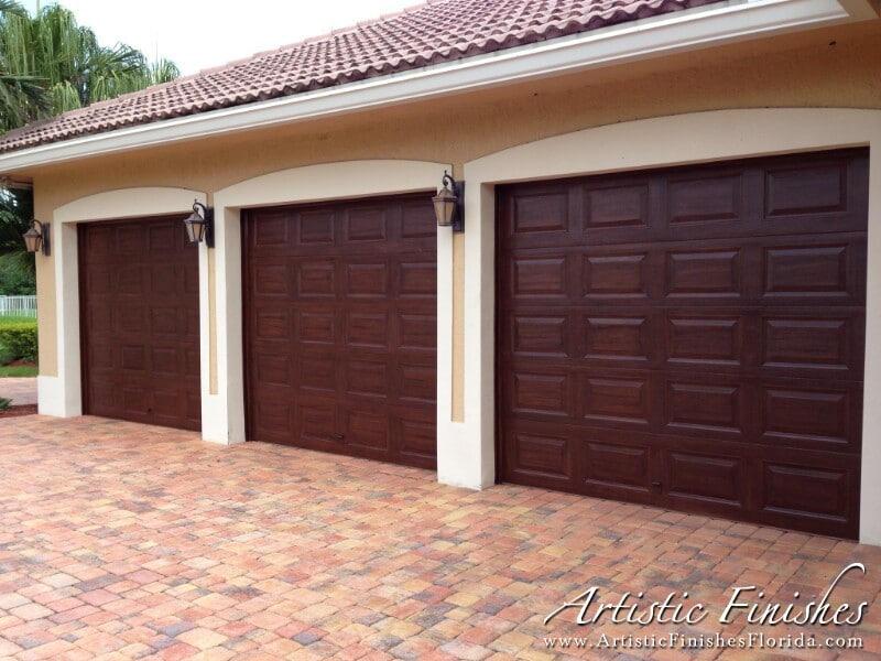 Garage door make over in davie florida artistic finishes for Garage doors orlando fl