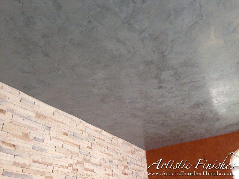 Venetian Plaster Garage Ceiling & Wall