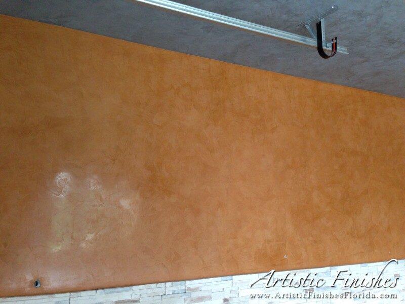 Venetian Plaster Garage Wall - Parkland