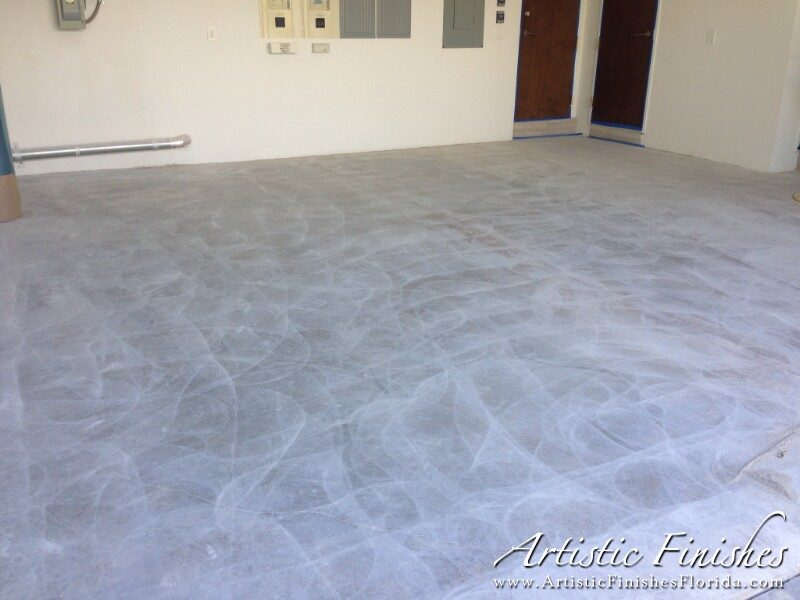 Fort Lauderdale Garage Epoxy Floor Before