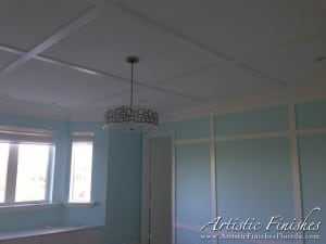 Bedroom Ceiling with Custom Molding